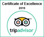TripAdvisor® Certifiacate of Excellence 2019